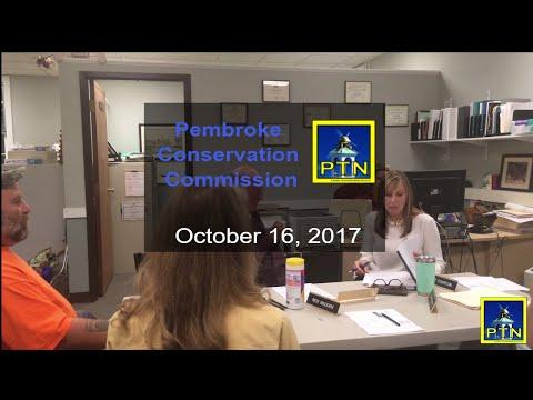 Pembroke Conservation Commission October 16, 2017