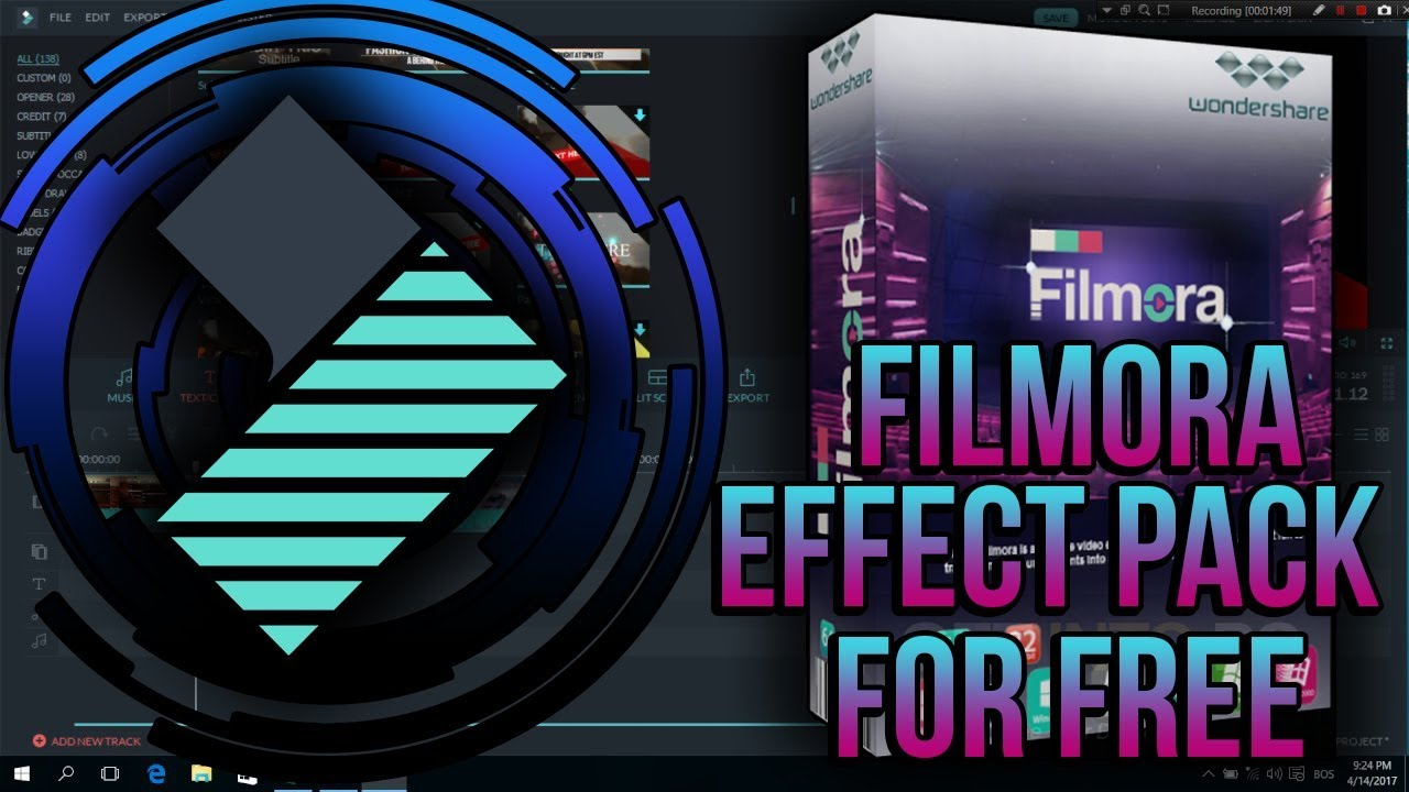 free effects pack for filmora