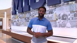 BTN Bus Tour: Braylon Edwards Tours Schembechler Hall | Michigan | Big Ten Football