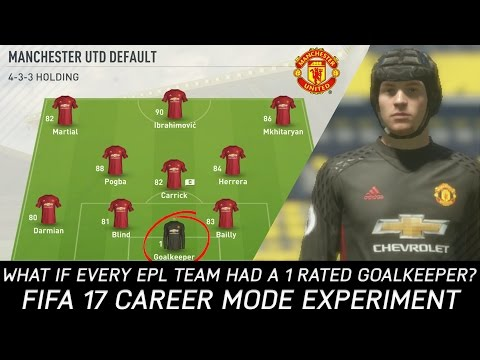 What If Every Premier League Team Had A 1 Rated Goalkeeper? - FIFA 17 Experiment