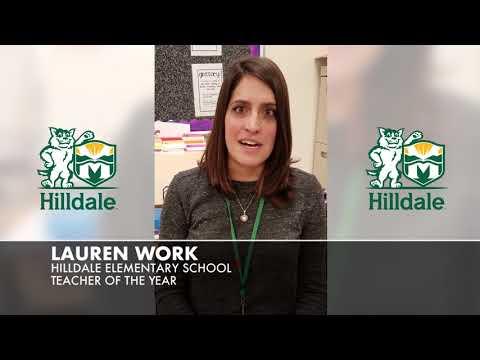 Lauren Work Hilldale Elementary School Teacher of the Year