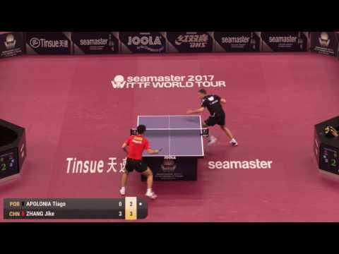 2017 Qatar Open Highlights: Zhang Jike vs Tiago Apolonia (R32)