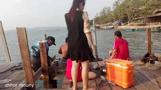 Fly Fishing For GT's On Christmas  ream beach kompong som