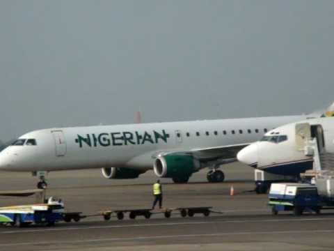Nigerian air landing at Kotoka airport, Ghana