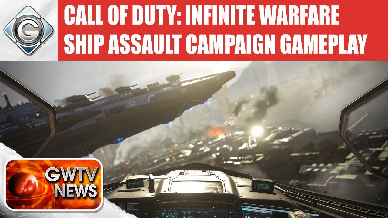Call of duty infinite warfare ship assault campaign gameplay demo gwtv news youtube - Infinite warfare ship assault ...