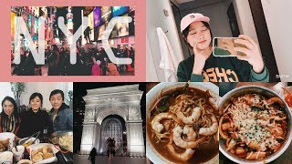 [foodvlog #15]GRWM in NEW YORK! Malaysian food + Fried Chicken&Beer + K-Town  Part 2