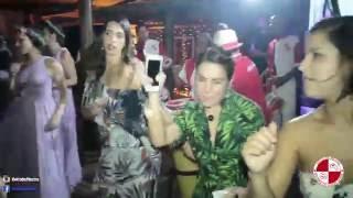 Escola de samba no Barracuda Beach Bar praia Toque Toque - Apito de Mestre