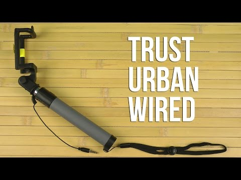 Распаковка Trust Urban Wired Foldable Selfie Stick Black (21194)