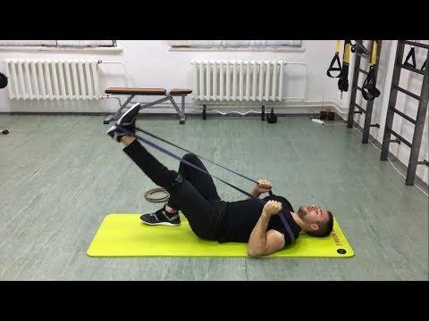 Упражнения для ягодиц и бедер в домашних условиях с резиновым жгутом. Укрепляем мышцы ног!