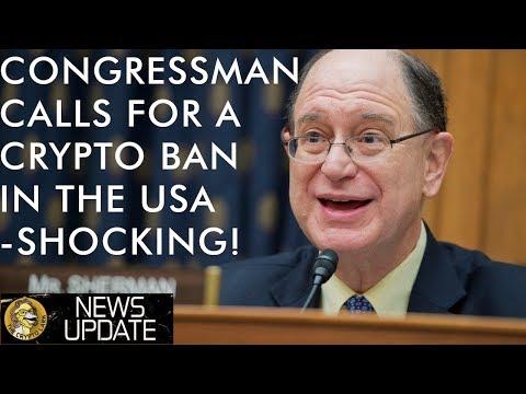 Congressman Calls For Shocking US Bitcoin & Crypto Ban To Defend The Petro Dollar