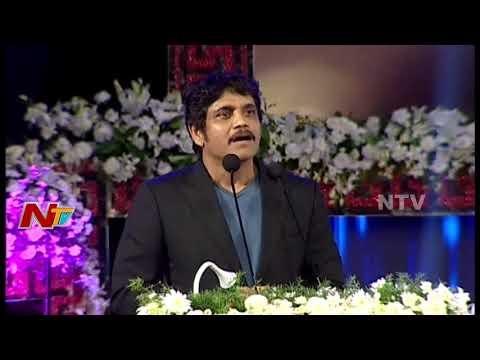 Nagarjuna Superb Speech at ANR Awards Ceremony || #ANRAwards || SS Rajamouli || NTV