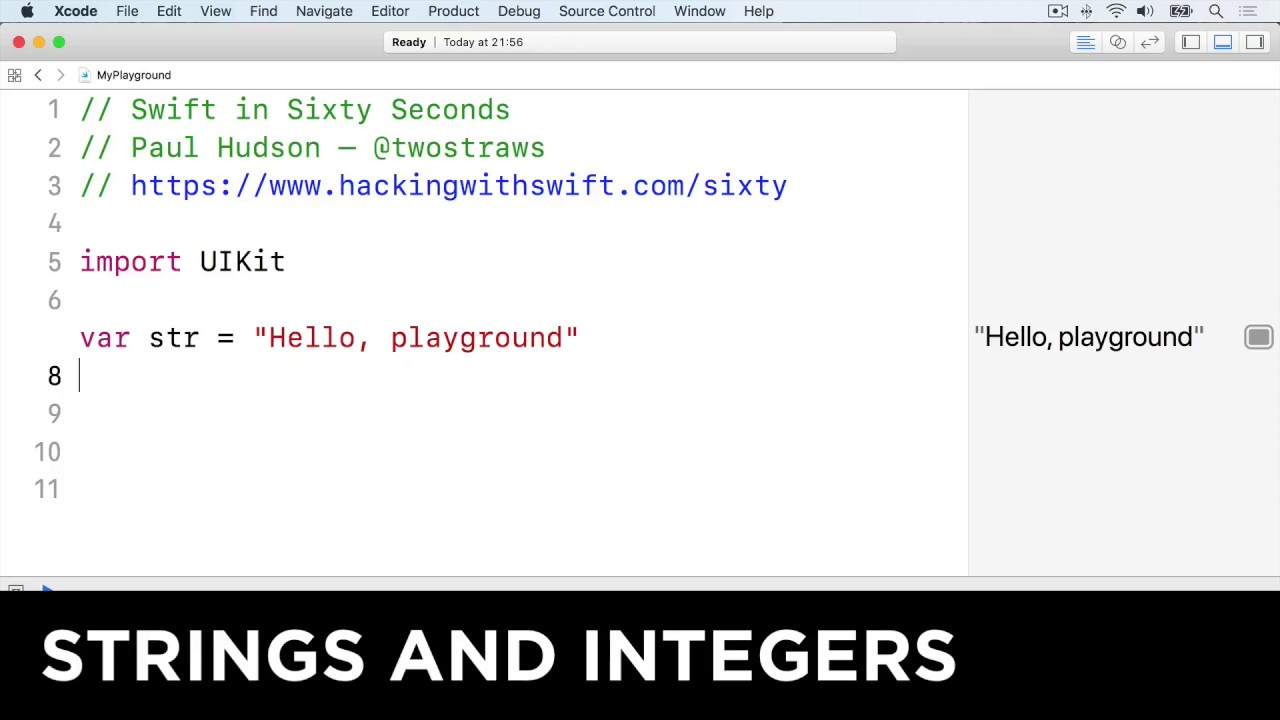 Strings and integers – Swift in Sixty Seconds