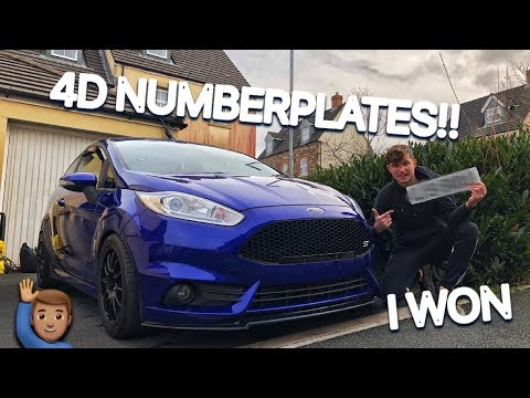 I WON A SET OF 4D NUMBER PLATES!!!