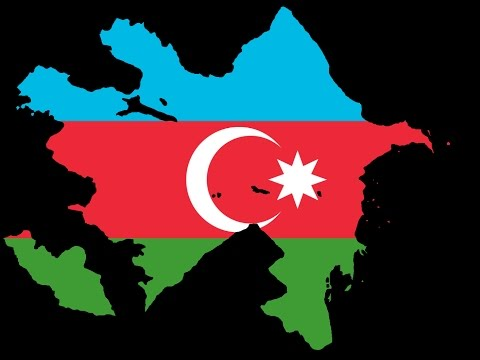 (SpeedArt) Flag Map of Republic of Azerbaijan - Azerbaycan Cumhuriyeti Bayraklı Haritası