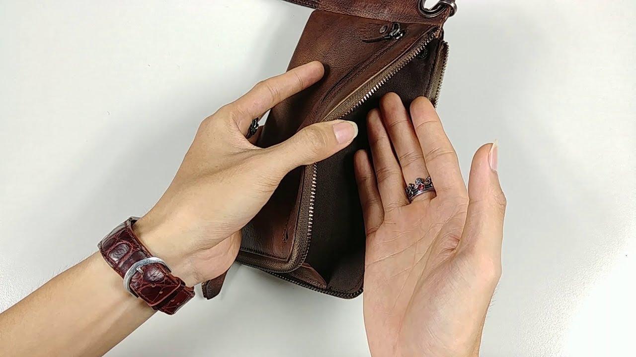 Trên tay ví da MenZ cầm tay nam mới của Người Lạ