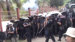 Indonesian police and military brutal crackdown at West Papua Peoples Congress, October 2011