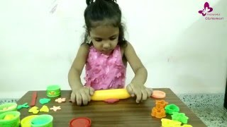 Mishali, 4 year little kid and her clay modelling.