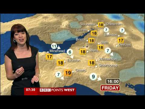 BBC Weather for 20th July 2012 with Elizabeth Austen