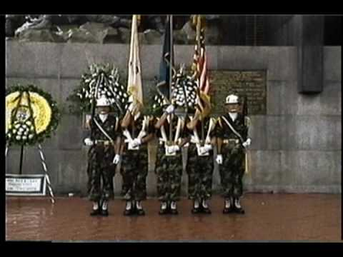Task Force Smith ceremony Outside Osan's Gate