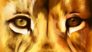 Oroszlán / Lion digital speed drawing on tablet /