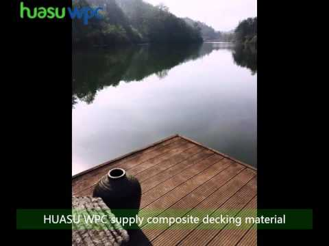 recycled plastic synthetic wood composite decking for landscaping platform