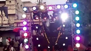Azad Vishal Ganesh Mandal Pusad virsarjan 2k17 with LM dj and RK lights Latur
