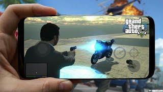 تحميل ومراجعة تحديث 1.3 من لعبة GTA V للجوال - إضافة الدراجة النارية و تكبير العالم ..!!
