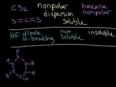 Solubility In Hexane Using Intermolecular Forces (Like Dissolves Like)