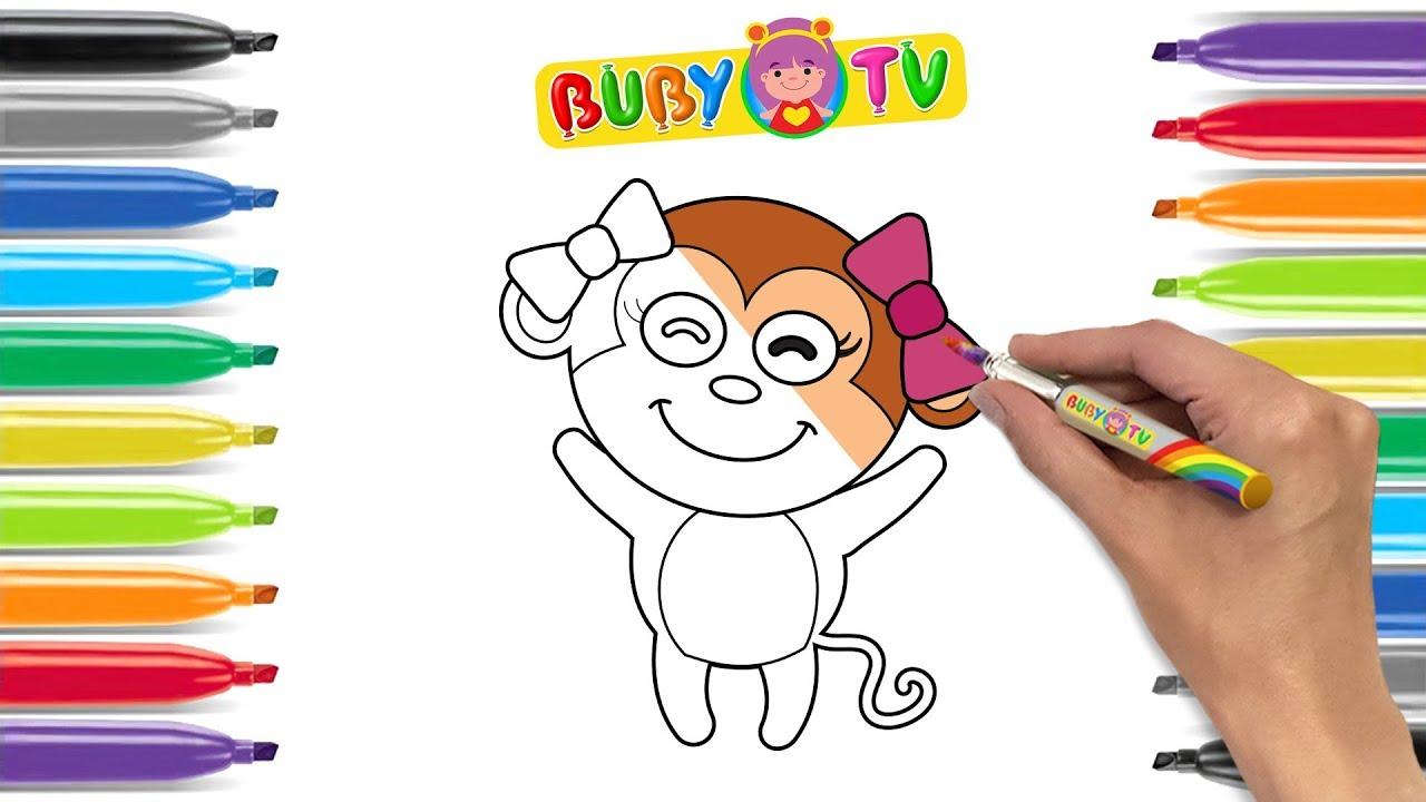 Impara A Disegnare Una Scimmietta Disegni Di Animali Per