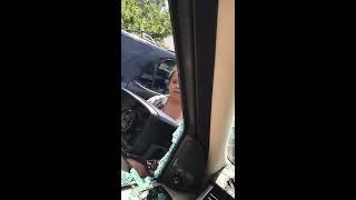 Crazy lady breaks man car