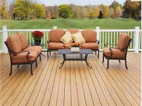 easy clean second  floor patio materials-wpc