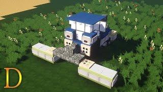 MINECRAFT POJAZDY - Jak zbudować ciągnik New Holland z kosiarką.