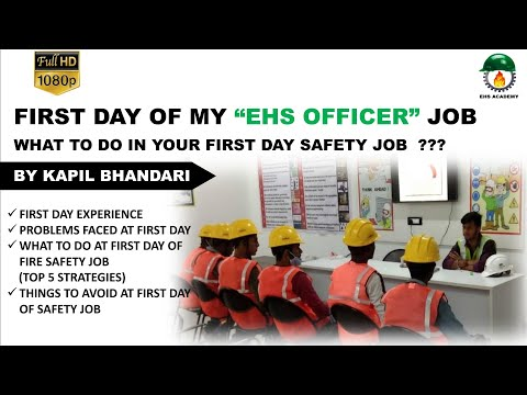 """First Day of My Job as a """"EHS OFFICER""""   My Experience   Things To Do at First Day of Safety JOB🔥🔥🔥"""