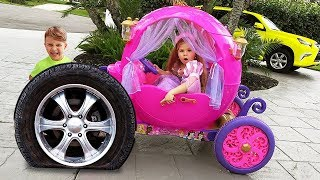 Diana quer ser princesa e brincar com brinquedos