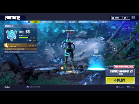 FORTNITE *NEW UPDATE PATCH V4.4 *DOING CHALLENGES* GRINDING FOR 400 SUBS