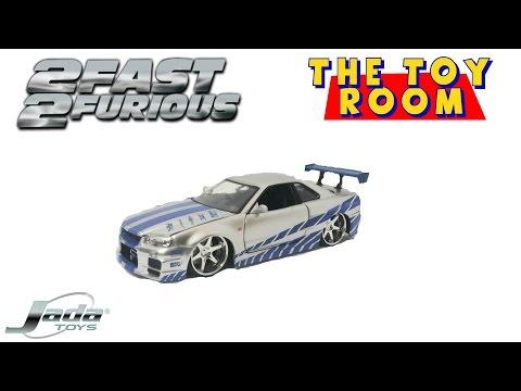 2 Fast 2 Furious Paul Walker Diecast Nissan Skyline Unboxing & Review