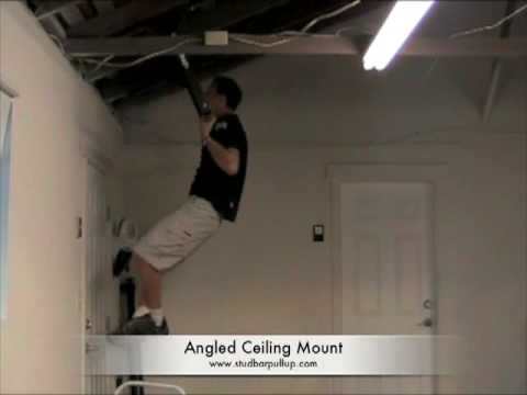 angled vaulted ceiling mounted pull up bar chin up bar - youtube
