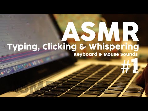 ASMR ⌨️  Keyboard typing & 🖱 Clicking Mouse - HD