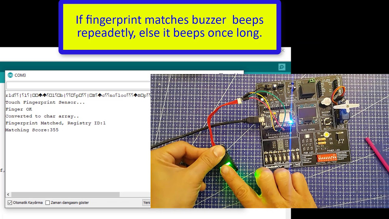 Fingerprint Sensor with NodeMCU - ESP8266 - YouTube
