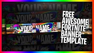 Free GFX: AWESONE FORTNITE YOUTUBE BANNER Template - FORTNITE Template (link in the description)