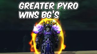 Greater Pyro Wins BG'S - Fire Mage PvP - WoW BFA 8.3