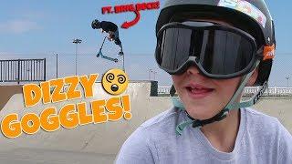 INSANE DIZZY GOGGLES AT SKATEPARK! (FT. BRIG BECK)