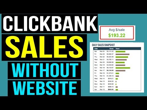 How To Promote Clickbank Products Without A Website Tutorial - TOP 5 Methods That Work