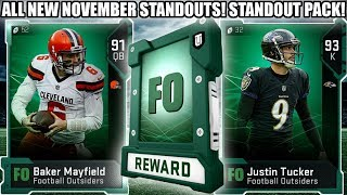 ALL NEW NOVEMBER STANDOUT PLAYERS! NOVEMBER STANDOUT PACK! | MADDEN 19 ULTIMATE TEAM