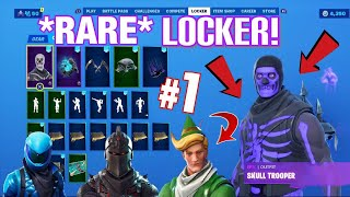 Fortnite OG Locker *RARE* SKINS! Season X Locker Tour!