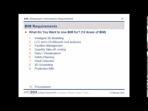 BIM / EIR - Employers Infromation Requirements