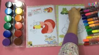 Tô màu cho bé   Dạy bé tập tô màu   Bé tập tô màu bức tranh