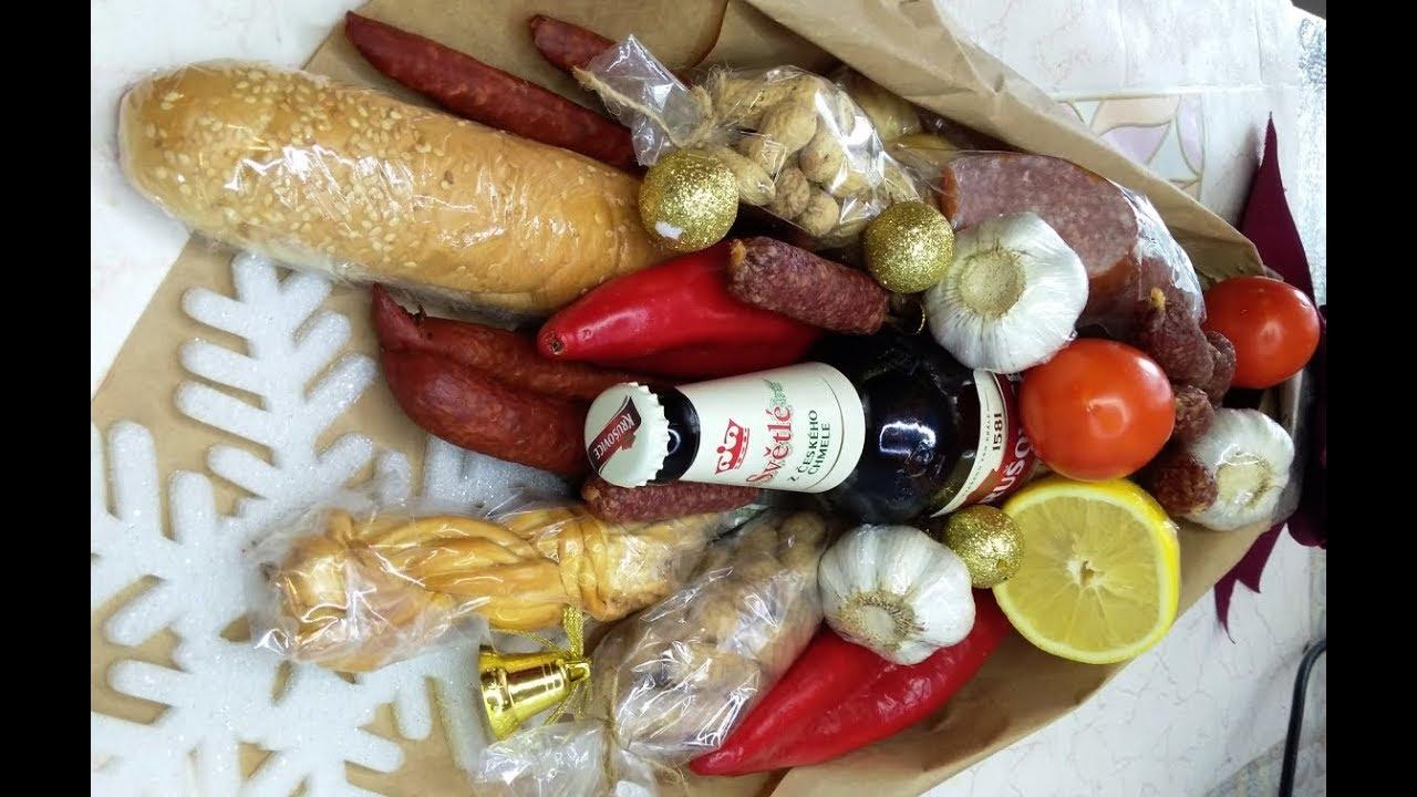 Мужской Букет на Новый год из Колбасы. Съедобный букет для мужчины своими руками в подарок.