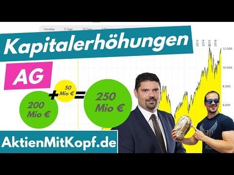 Kapitalerhöhung einer AG einfach erklärt