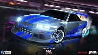 Форсаж 2! Nissan Skyline GT-R R34 + Тематическая музыка! | Rocket League